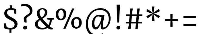 Merriweather regular Font OTHER CHARS