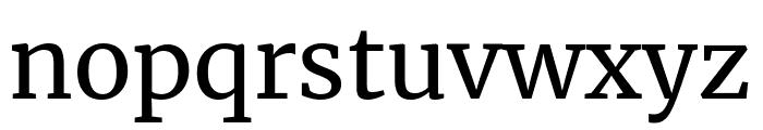 Merriweather regular Font LOWERCASE