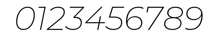 Montserrat 200italic Font OTHER CHARS