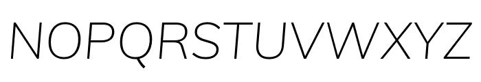 Muli 200italic Font UPPERCASE