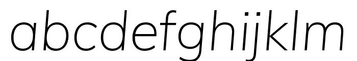 Muli 200italic Font LOWERCASE