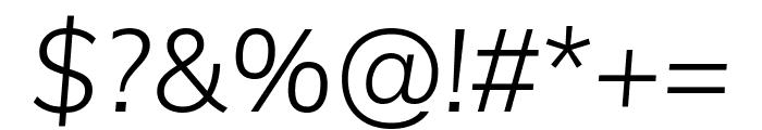 Muli 300italic Font OTHER CHARS