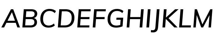Muli 600italic Font UPPERCASE