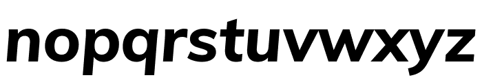 Muli 800italic Font LOWERCASE