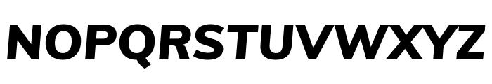 Muli 900italic Font UPPERCASE