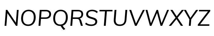 Muli italic Font UPPERCASE