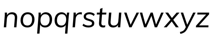 Muli italic Font LOWERCASE