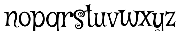 Mystery Quest regular Font LOWERCASE