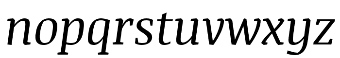 Noticia Text italic Font LOWERCASE