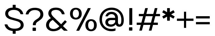 Numans regular Font OTHER CHARS