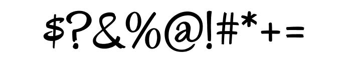 Oregano regular Font OTHER CHARS