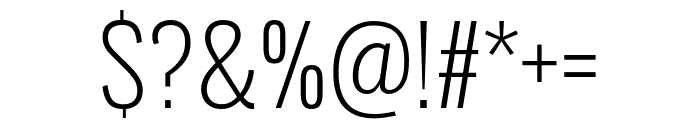 Oswald 200 Font OTHER CHARS