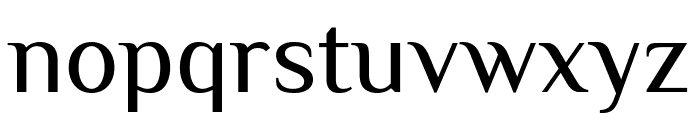 Philosopher regular Font LOWERCASE