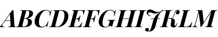 Playfair Display 700italic Font UPPERCASE