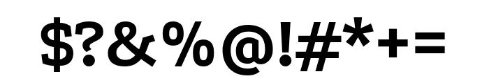 Podkova 700 Font OTHER CHARS