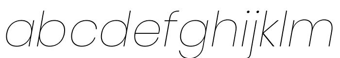 Poppins 100italic Font LOWERCASE