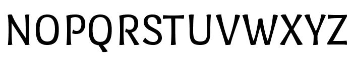 Port Lligat Sans regular Font UPPERCASE