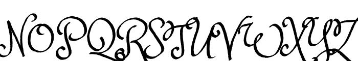 Princess Sofia regular Font UPPERCASE