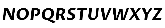 Proza Libre 700italic Font UPPERCASE