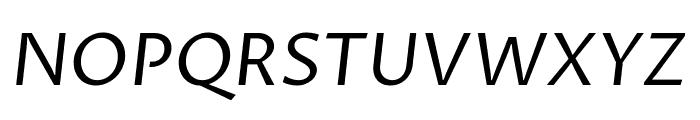 Proza Libre italic Font UPPERCASE