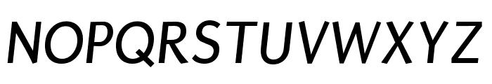Puritan italic Font UPPERCASE