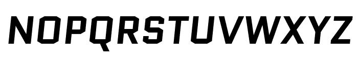 Quantico 700italic Font UPPERCASE