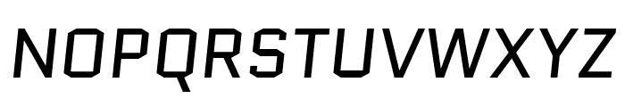 Quantico italic Font UPPERCASE