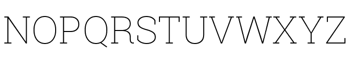Roboto Slab 100 Font UPPERCASE