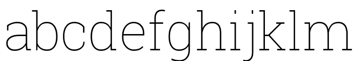 Roboto Slab 100 Font LOWERCASE