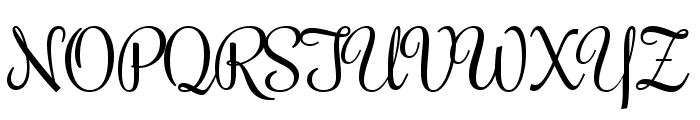 Rochester regular Font UPPERCASE