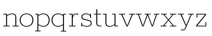 Rokkitt 100 Font LOWERCASE