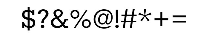 Rokkitt regular Font OTHER CHARS