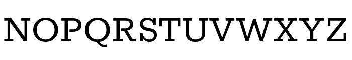 Rokkitt regular Font UPPERCASE