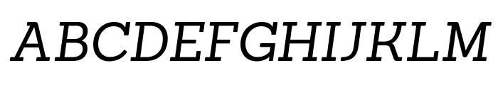 Sanchez italic Font UPPERCASE