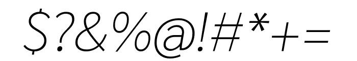 Sarabun 100italic Font OTHER CHARS