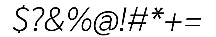 Sarabun 200italic Font OTHER CHARS