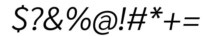Sarabun 300italic Font OTHER CHARS