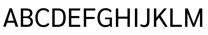 Sarabun regular Font UPPERCASE