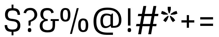 Sintony regular Font OTHER CHARS