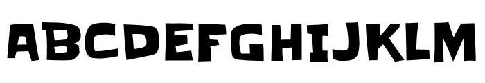 Slackey regular Font UPPERCASE