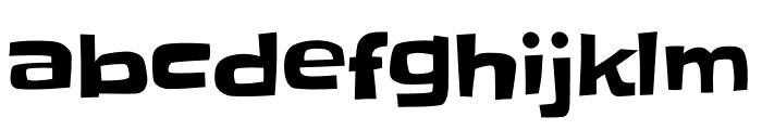 Slackey regular Font LOWERCASE