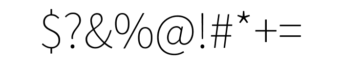 Source Sans Pro 200 Font OTHER CHARS