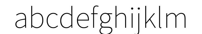Source Sans Pro 200 Font LOWERCASE