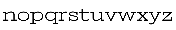 Stint Ultra Expanded regular Font LOWERCASE