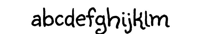 Sunshiney regular Font LOWERCASE