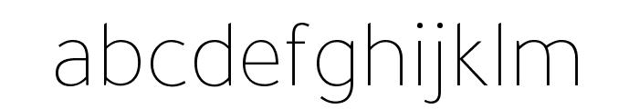 Tajawal 200 Font LOWERCASE
