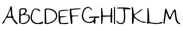 The Girl Next Door regular Font UPPERCASE