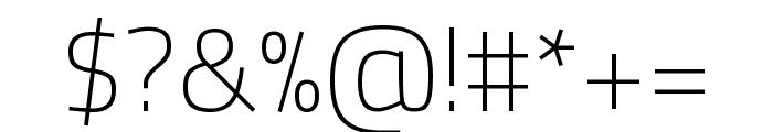 Titillium Web 200 Font OTHER CHARS