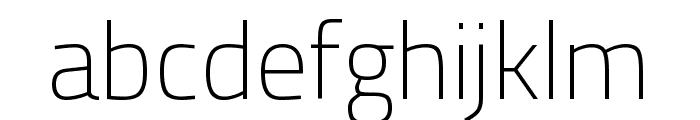 Titillium Web 200 Font LOWERCASE