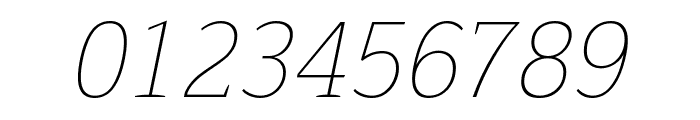 Trirong 100italic Font OTHER CHARS